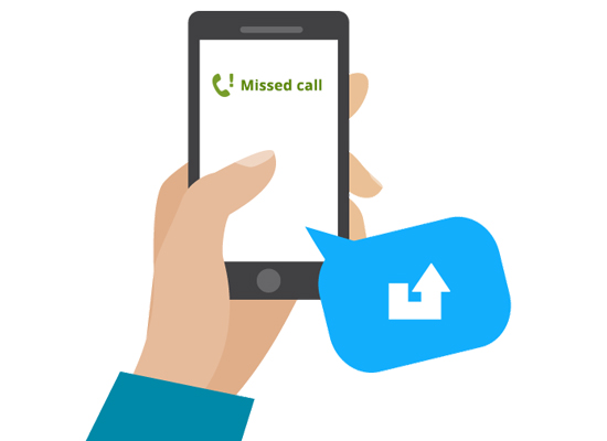 Image result for Missed call services